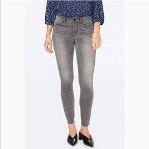 NYDJ Light Grey Amy Skinny Jeans 14